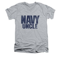 Navy Shirt Slim Fit V-Neck Navy Uncle Athletic Heather T-Shirt