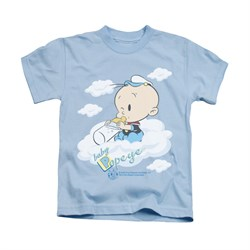 Popeye Shirt Baby Clouds Kids Light Blue Youth Tee T-Shirt