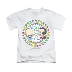 Popeye Shirt Fun With Crayons Kids White Youth Tee T-Shirt