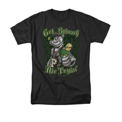 Popeye Shirt Get Spinach Adult Black Tee T-Shirt