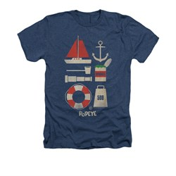 Popeye Shirt Items Adult Heather Navy Tee T-Shirt