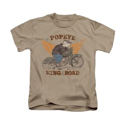 Popeye Shirt King Of The Road Kids Sand Youth Tee T-Shirt