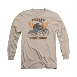 Popeye Shirt King Of The Road Long Sleeve Sand Tee T-Shirt