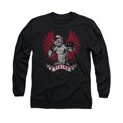 Popeye Shirt Undefeated Long Sleeve Black Tee T-Shirt