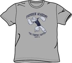 Popeye T-shirt Poopdeck Academy Funny Adult Cartoon Tee