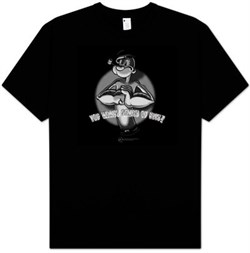 Popeye T-shirt You Wants Some Of This Funny Adult Black Tee