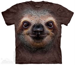 Sloth Face Shirt Tie Dye Adult T-Shirt Tee