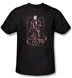 The Hobbit Shirt Movie Unexpected Journey Elrond Adult Black T-shirt