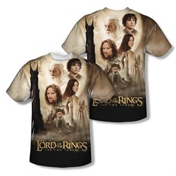 The Lord Of The Rings Towers Poster Sublimation Kids Shirt Front/Back Print