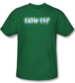 Charm's Blow Pop Kids T-Shirts - Charm's Blow Pop Logo Kelly Green Tee Youth