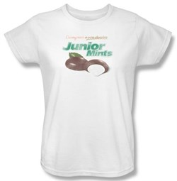 Junior Mints Ladies T-Shirts - Junior Mints Logo White Tee