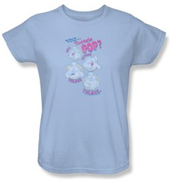 Tootsie Roll Ladies T-Shirts - Three Light Blue Tee