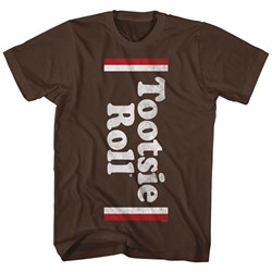 Tootsie Roll Shirt Candy Logo Brown T-Shirt