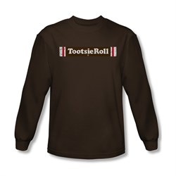 Tootsie Roll Shirt Logo Long Sleeve Coffee Tee T-Shirt
