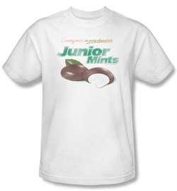 Junior Mints T-Shirts  Junior Mints Logo Adult White Tee