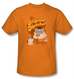 Tootsie Roll T-Shirts - Original Moocher Adult Orange Tee