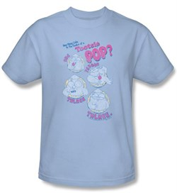 Tootsie Roll T-Shirts  Three Adult Light Blue Tee