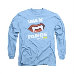 Wack O Wax Shirt Fangs Long Sleeve Carolina Blue Tee T-Shirt