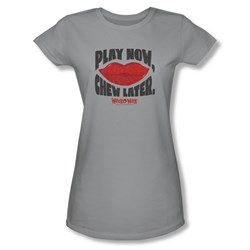 Wack O Wax Shirt Juniors Play Silver T-Shirt