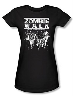Zombie Juniors T-Shirt Walk Black Tee Shirt