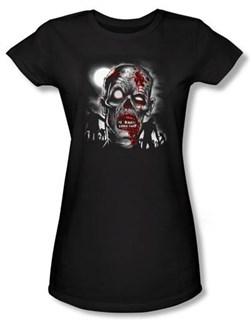 Zombie Juniors T-Shirt Walking Black Tee Shirt
