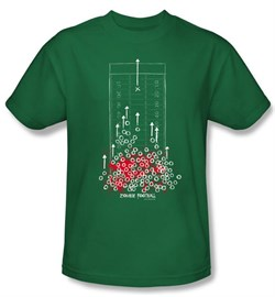 Zombie T-Shirt Football Adult Kelly Green Tee Shirt