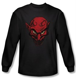 Zombie T-Shirt Sketchy Details Black Adult Long Sleeve Tee Shirt
