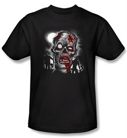 Zombie T-Shirt Walking Adult Black Tee Shirt