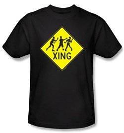 Zombie T-Shirt Xing Adult Black Tee Shirt
